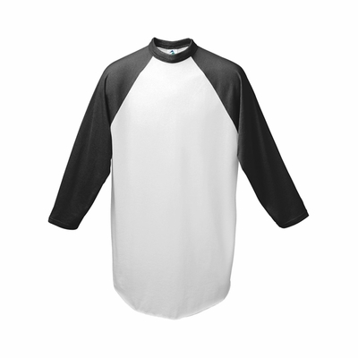 Augusta Sportswear Youth Baseball Jersey: 50/50 Cotton Blend Contrast Raglan 3/4 Sleeves (421)