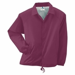 Augusta Sportswear Youth Jacket: 100% Nylon Taffeta Shell Tricot Lined Snap Front Coach (3101)