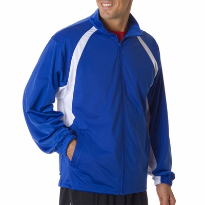 Badger Sport Men's Jacket: 100% Polyester Brushed Tricot Two-Toned Hook Full-Zip with Pockets (7702)