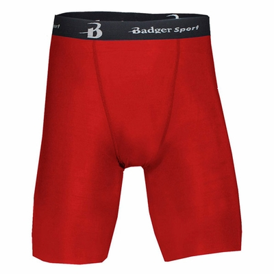 Badger Sport Men's Shorts: Blended Compression B-Fit 8-Inch (4607)