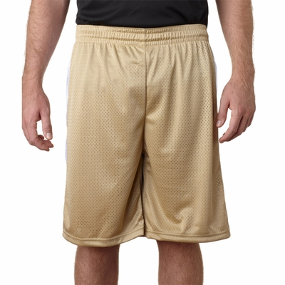 Badger Sport Men's Shorts: 100% Polyester Mesh Challenger Color Block  9-Inch (7241)