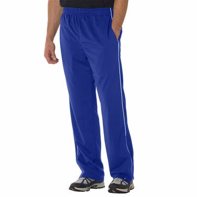 Badger Sport Men's Sweatpants: 100% Polyester Brushed Tricot Razor Pocketed with Piping (7710)