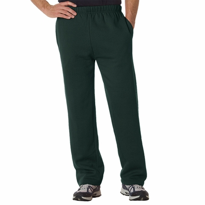 Badger Sport Men's Sweatpants: Cotton Blend Fleece Open Bottom (1277)