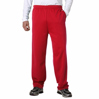 Badger Sport Men's Sweatpants: 100% Polyester Fleece Performance Open Bottom with Side Pockets (1478)