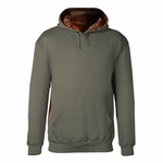 Badger Sport Men's Sweatshirt: Cotton Blend Athletic Fleece Camo Lining/Accents Hooded (1264)