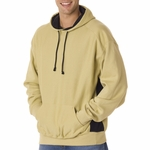 Badger Sport Men's Sweatshirt: Cross-Grain Cotton Blend Fleece Color Block Hooded (1250)