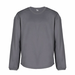 Badger Sport Men's Sweatshirt: 100% Polyester Performance BT5 Crew Neck Pullover (1453)