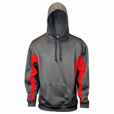 Badger Sport Men's Sweatshirt: 100% Polyester Fleece Performance Two-Toned Hooded (1465)
