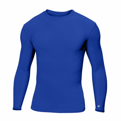 Badger Sport Men's T-Shirt: Blended Performance Stretch B-Fit Long Sleeve (4604)