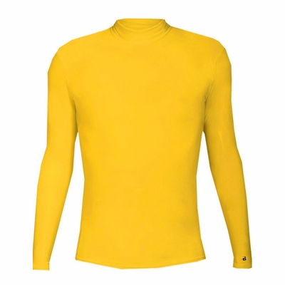 Badger Sport Men's T-Shirt: Blended Compression Long Sleeve Mock Neck (4656)