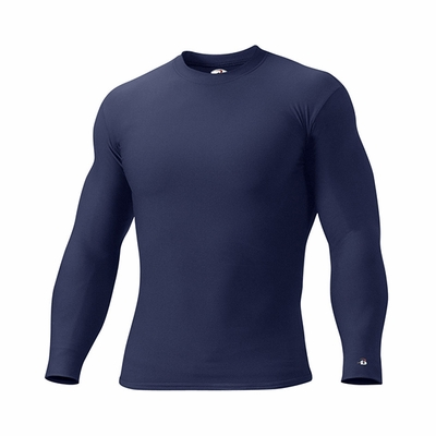 Badger Sport Men's T-Shirt: Blended Heavyweight B-Fit Crew Long Sleeve (4704)