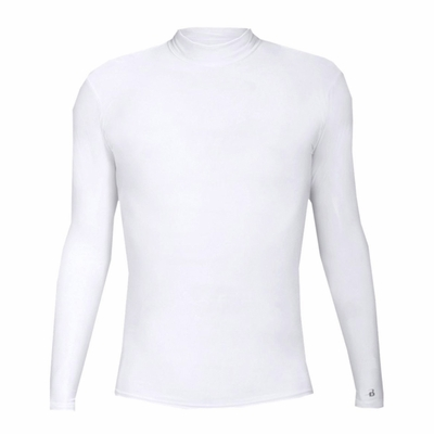 Badger Sport Men's T-Shirt: Blended Compression B-Hot Long Sleeve Mock Neck (4756)