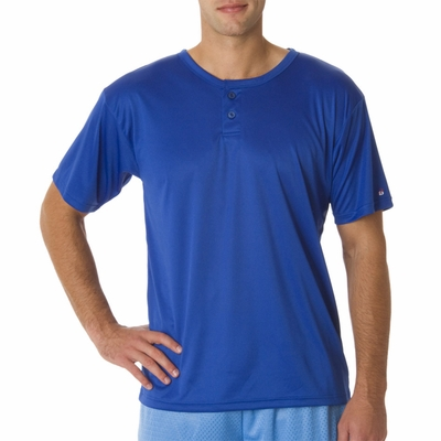 Badger Sport Men's T-Shirt: 100% Polyester B-Core Performance Henley (B7930)