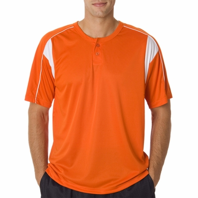 Badger Sport Men's T-Shirt: 100% Polyester B-Dry Pro 2-Button Henley with Piping (7937)