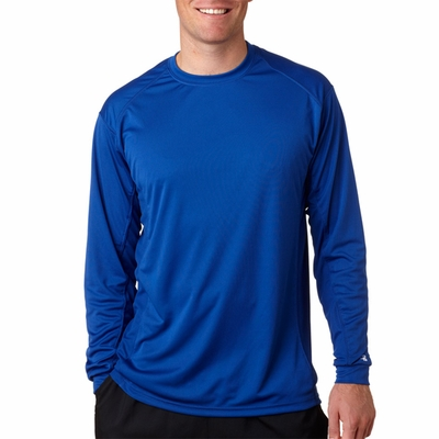 Badger Sport Men's T-Shirt: 100% Polyester Performance BT5 Long Sleeve (4404)