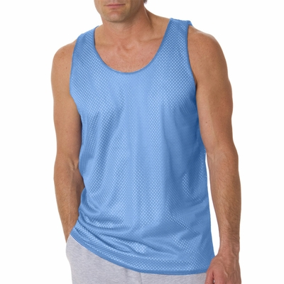 Badger Sport Men's Tank Top: 100% Polyester Double Layer Mesh Reversible (B8529)