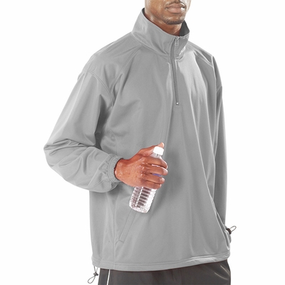 Badger Sport Men's Windshirt: 100% Polyester Brushed Tricot BT5 1/4-Zip (7704)