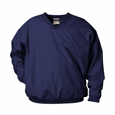 Badger Sport Men's Windshirt: 100% Polyester Sanded Microfiber/Taffeta V-Neck with Pockets (7618)