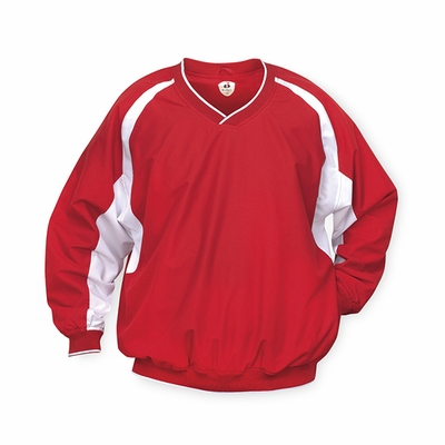 Badger Sport Men's Windshirt: 100% Polyester Microfiber/Taffeta Color Block with Pockets (7602)