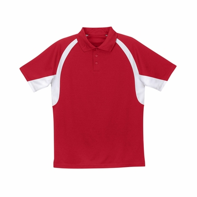 Badger Sport Women's Polo Shirt: 100% Polyester Jersey/Mesh Hook 3-Button (8344)