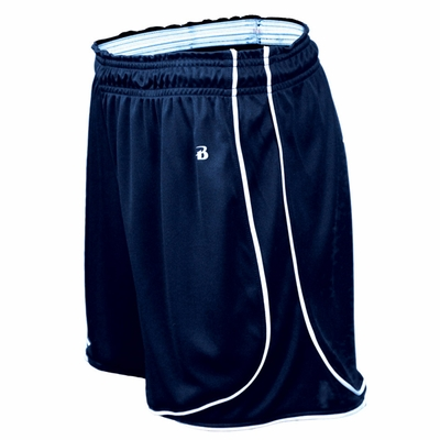 Badger Sport Women's Shorts: 100% Polyester Pacer 3-Inch with Piping (4118)