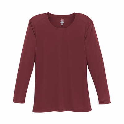 Badger Sport Women's T-Shirt: 100% Polyester B-Dry Core Long Sleeve (4164)
