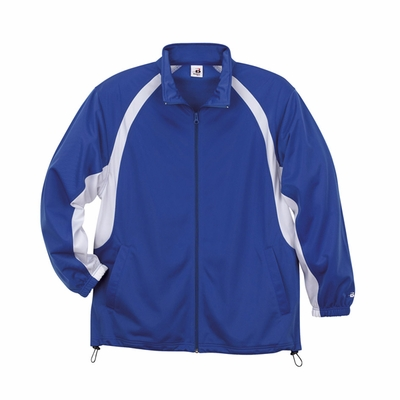 Badger Sport Youth Jacket: 100% Polyester Brushed Tricot Two-Toned Hook Full-Zip with Pockets (B2702)