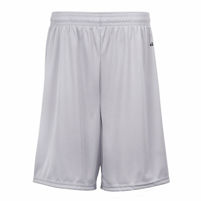 Badger Sport Youth Shorts: 100% Polyester Performance 7-Inch with Pockets (2119)