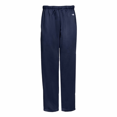 Badger Sport Youth Sweatpants: 100% Polyester Performance Open Bottom with Side Pockets (2478)