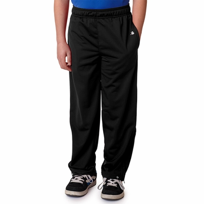 Badger Sport Youth Sweatpants: 100% Polyester Brushed Tricot Open Bottom with Pockets (2711)