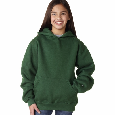 Badger Sport Youth Sweatshirt: Cotton Blend Athletic Cut Hooded (2254)