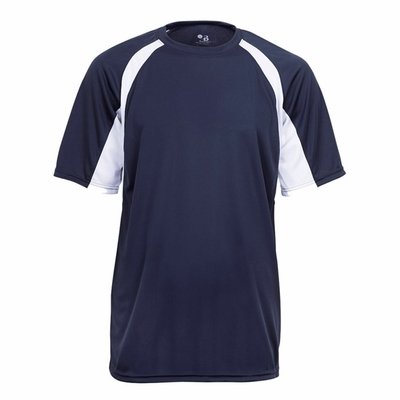 Badger Sport Youth T-Shirt: 100% Polyester B-Core Two-Tone Hook Performance (2144)