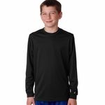 Badger Sport Youth T-Shirt: 100% Polyester Performance B-Core Long Sleeve (2104)