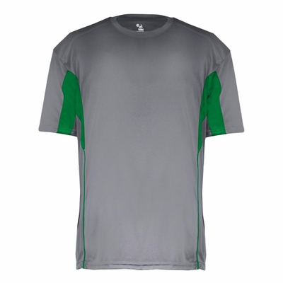 Badger Sport Youth T-Shirt: Performance Color Block with Piping (B2147)
