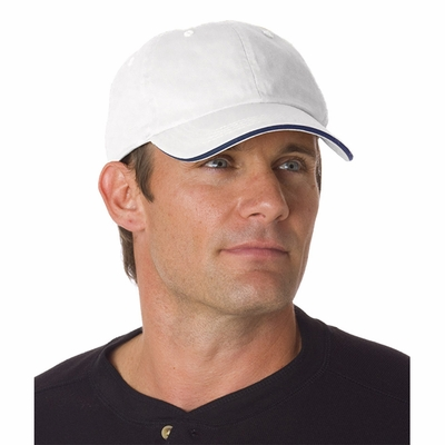 Bayside Cap: 100% Cotton Unconstructed Washed Sandwich (3617)
