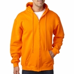 Bayside Men's Sweatshirt: Hooded Full-Zipper Fleece (900)