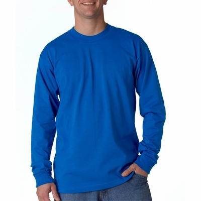 Bayside Men's T-Shirt: 100% Cotton Union Made Long-Sleeve (2955)