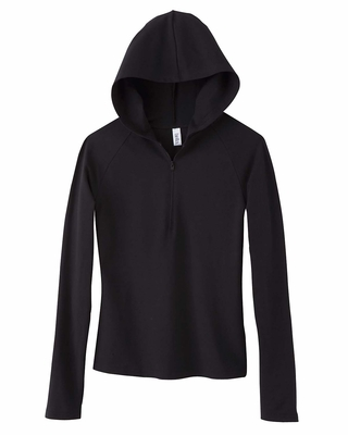 Bella Women's Sweatshirt: 6.5 oz. Cotton/Spandex Half-Zip Hoodie (875)