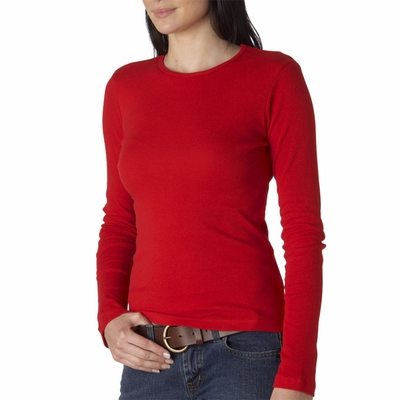 Bella Women's T-Shirt: 100% Cotton 1x1 Baby Rib Long-Sleeve (B5001)