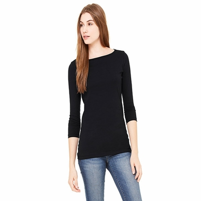 Bella Women's T-Shirt: 100% Cotton Gwen 1/2-Sleeve Boatneck (6515)