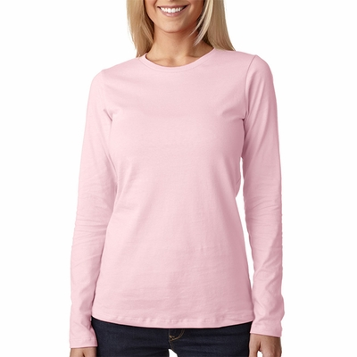 Bella Women's T-Shirt: 100% Cotton Missy Fit Long-Sleeve Crew Neck Jersey (B6450)