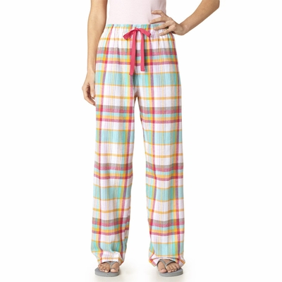 Boxercraft Women's Pajama Pants: 100% Cotton Flannel Long Roomy Cut (F19)