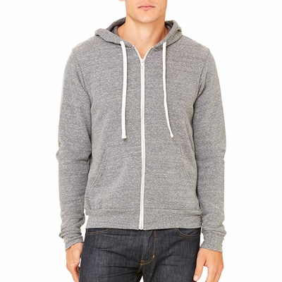 Canvas Men's Sweatshirt: 8.2 oz. Triblend Sponge Fleece Full-Zip Hoodie (3909)