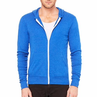 Canvas Men's Sweatshirt: Tri-Blend Lightweight Hoodie (C3939)
