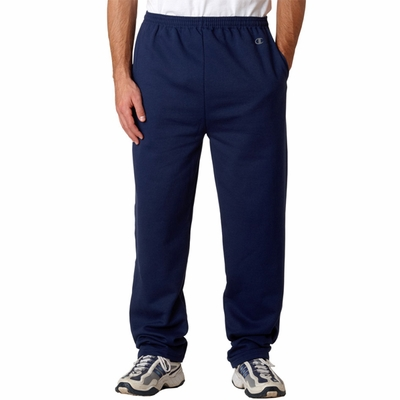 Champion Men's Sweatpants: 50/50 Open-Bottom With Pockets (S245)