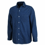 Charles River Men's Chambray Shirt: 100% Cotton Indigo-Dyed Button-Down with Left Chest Pocket (3329)
