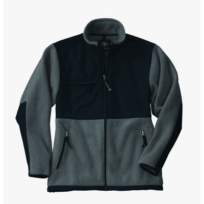 Charles River Men's Fleece Jacket: Anti-Pill Color Block Full-Zip (9931)