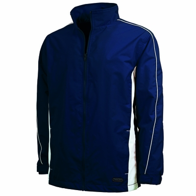 Charles River Men's Jacket: Dobby Nylon Piped Full-Zip (9267)