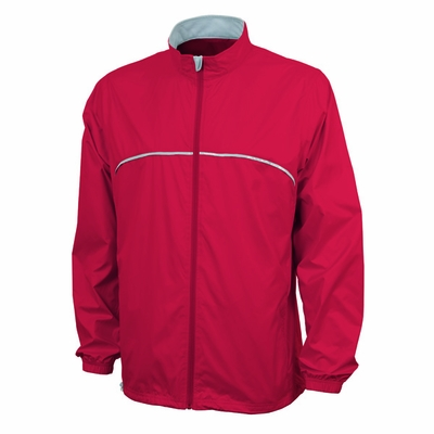 Charles River Men's Jacket: Microfiber Taffeta Piped Full-Zip (9200)