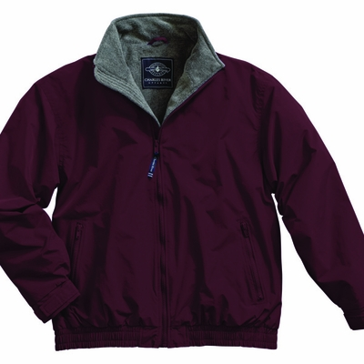 Charles River Men's Jacket: Nylon Anti-Pill Fleece Lined Full-Zip (9934)